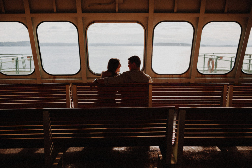 engagement on seattle ferry