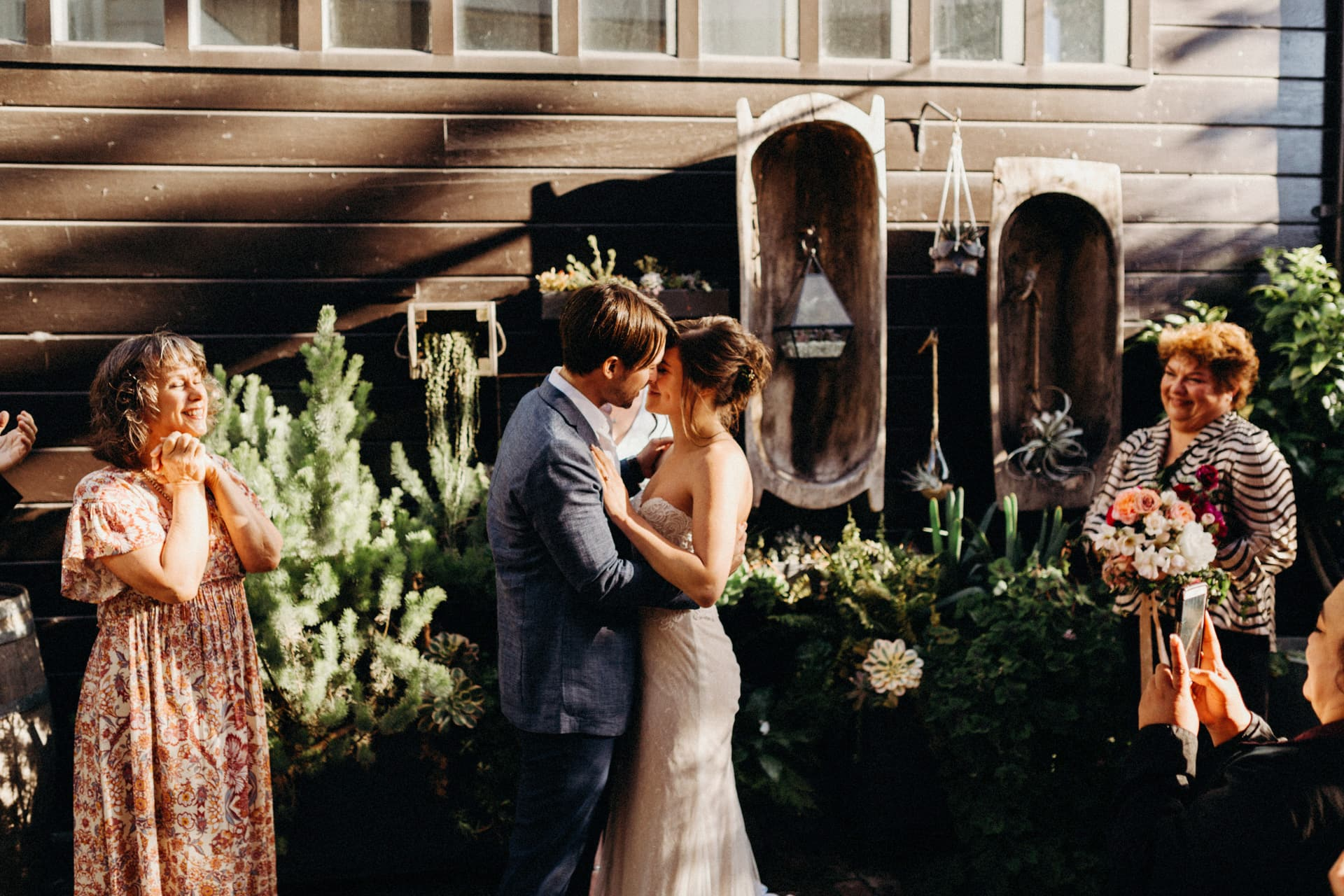 the ceremony at the Stable Cafe in San Francisco