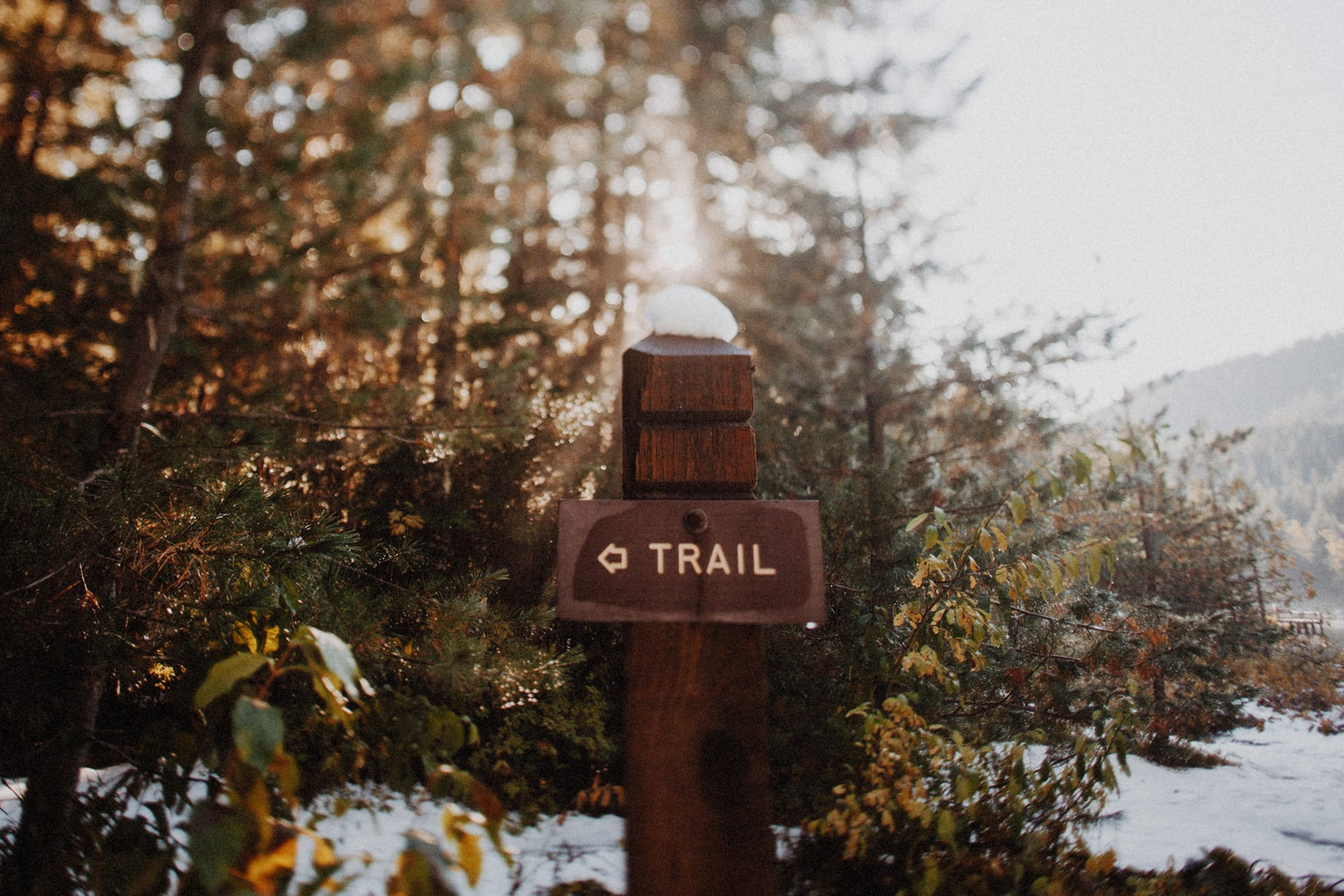 Trillium Lake trail sign