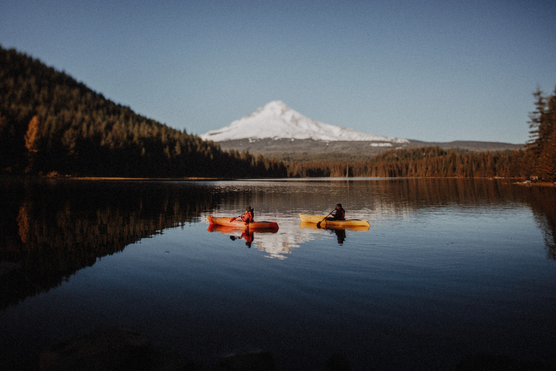 Kayakers at Trillium Lake